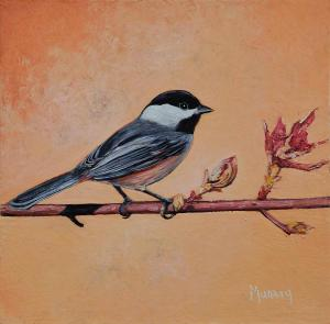 "Tangerine Dream Chickadee | 6"" x 6"" 