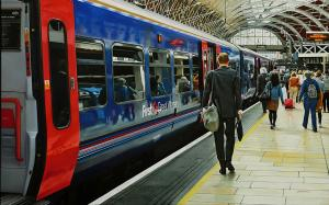 "Waterloo Station London | 20"" x 31"" 