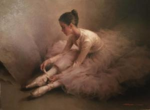 "Resting in Tulle | 18"" x 24"" 