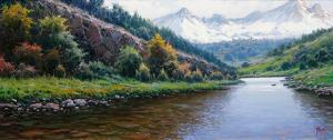"In the Pyrenees | 13"" x 30"" 