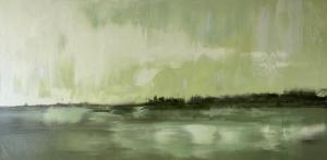 "Green Reflections   12"" x 24""   Sandra Pratt"