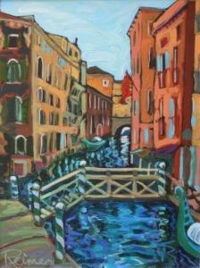 Christine Reimer | Venetian Canal #1| 16x12 | acrylic