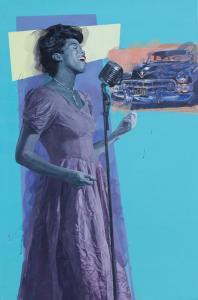 Sarah Vaughan| 57″ x 38″ | Rose