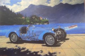 "Bugatti Blue | 28"" x 36"" 