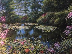 """Monet 39's Water Garden   12"""" x 16""""   Jared Sines"""