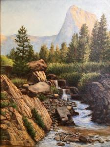 "Mountain Stream   20"" x 16""   Sines"