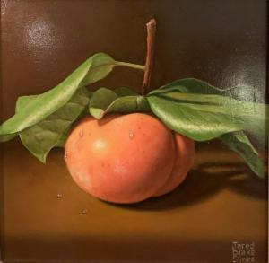 "Persimmon on the Branch | 8"" x 8"" 