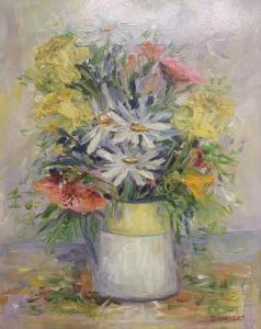 A Bouquet in Monet's Creamer | 16″ x 20″ | Dorothy Spangler