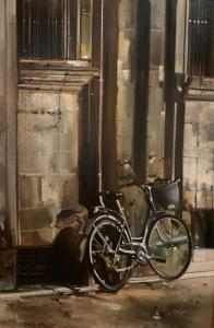 Thalia Stratton | Biking in Provence IV | 36x24 | Oil