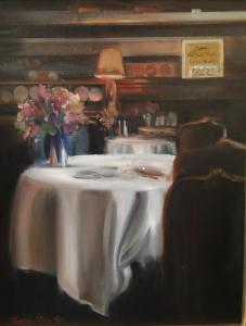 "Dinner at Magdy's | 20"" x 16"" 