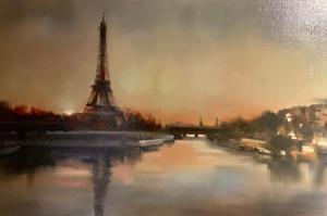 Thalia Stratton | Eiffel Evening | 20x30 | Oil
