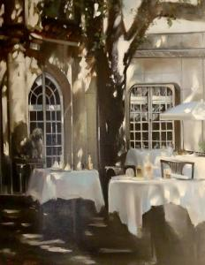 Thalia Stratton | Lunch in Provence IV | 30x24 | Oil