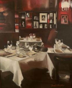Thalia Stratton | New York Dining | 28x22 | Oil