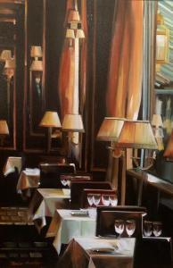 Thalia Stratton | Parisian Dining III | 30x20 | Oil
