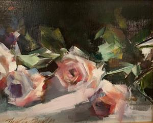 "Pink Spring Contrast | 8"" x 10"" | Thalia Stratton"