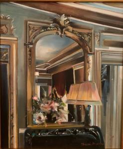 Thalia Stratton | Upstairs at Laduree | 24x20 | Oil