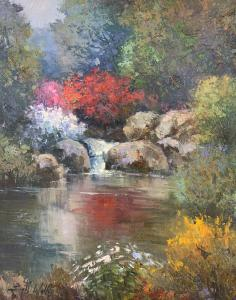 "Floral Reflection | 30"" x 24"" 