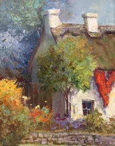 "Old World Cottage | 20"" x 15"" 