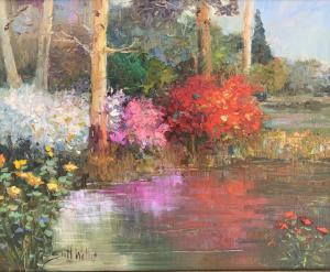 Wallis_Trees_by_the_Pond_16x20
