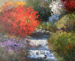 "Tumbling Stream | 24"" x 30"" 