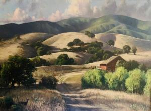 "California Rolling Hills   30"" x 40""   Weberbauer"